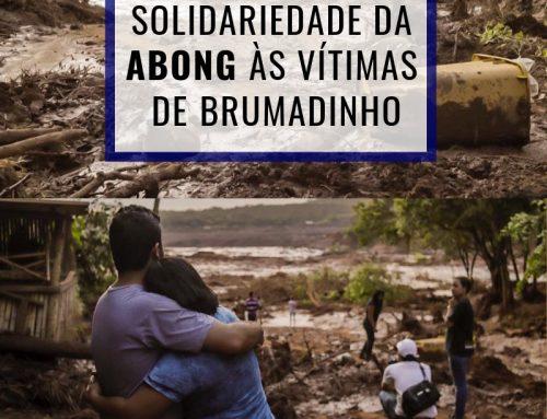 Nota de pesar e solidariedade da Abong às vítimas de Brumadinho