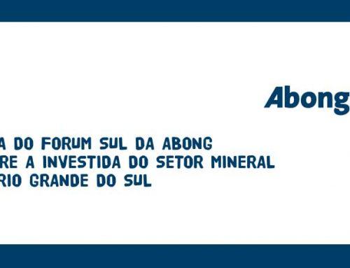 Nota do Fórum Sul da Abong sobre a investida do setor mineral no Rio Grande do Sul
